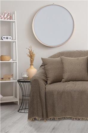 "Das home ριχτάρι τριθέσιου καναπέ με κρόσσια ""0210"" 180 x 300 cm"