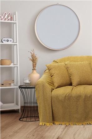 "Das home ριχτάρι τριθέσιου καναπέ με κρόσσια ""0213"" 180 x 300 cm"