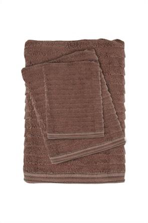 "Das home σετ πετσέτες μπάνιου με ριγέ σχέδιο ""Best 0581"" (3 τεμάχια)"