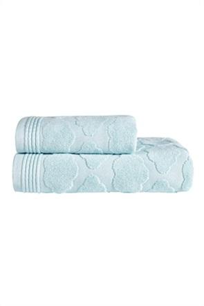 "Kentia πετσέτα προσώπου με ανάγλυφο σχέδιο ""Cloud 19"" 40 x 60 cm"