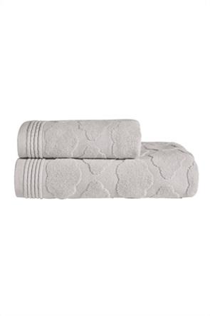 "Kentia πετσέτα προσώπου με ανάγλυφο σχέδιο ""Cloud 22"" 40 x 60 cm"