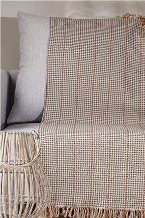 "Kentia ριχτάρι τριθέσιου καναπέ με pied-de-poule ""Carter 22"" 180 x 300 cm"