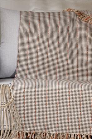 """Kentia ριχτάρι διθέσιου καναπέ με pied-de-poule """"Carter 04"""" 180 x 250 cm"""