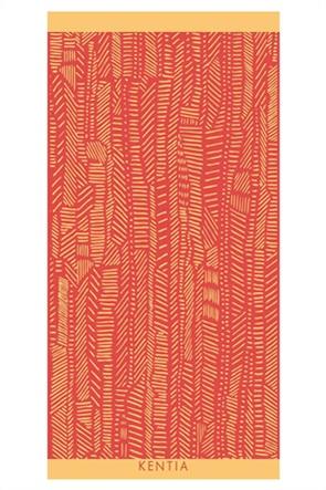 Kentia πετσέτα θαλάσσης με all-over print ''Grid'' 80 x 160 cm