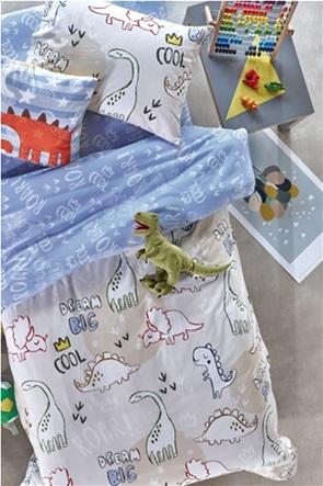 "Kentia σετ παιδικά σεντόνια με all-over dinosaur print ""Roar"" (3 τεμάχια)"