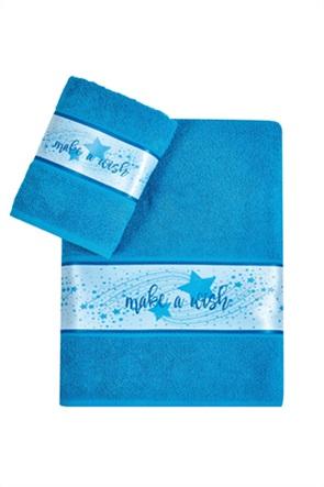 "Kentia σετ παιδικές πετσέτες με τρέσα ""Maw 08"" (2 τεμάχια)"