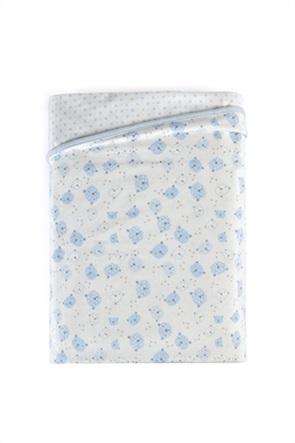 "Kentia βρεφική κουβέρτα αγκαλιάς διπλής όψης ""Hopper 19"" 75 x 100 cm"