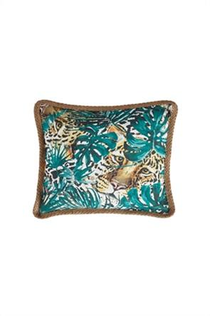"""Kentia διακοσμητική μαξιλαροθήκη με tiger print """"Casa 220"""" 45 x 45 cm"""