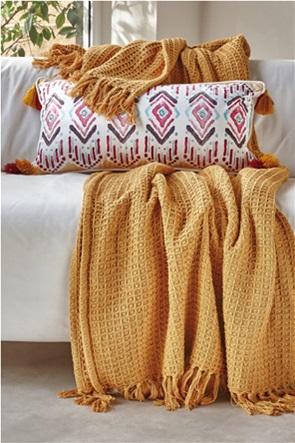 "Kentia κουβέρτα υπέρδιπλη με ανάγλυφη υφή waffle ""Sofia 28"" 220 x 240 cm"
