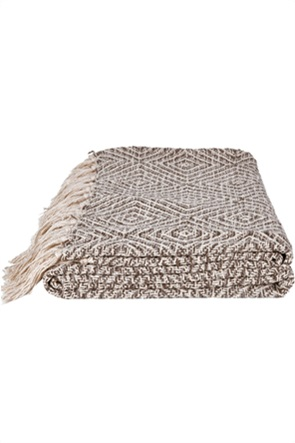 "Kentia κουβέρτα υπέρδιπλη με κρόσσια ""Adeline 04"" 220 x 240 cm"
