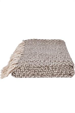"Kentia κουβέρτα μονή με κρόσσια ""Adeline 04"" 170 x 130 cm"