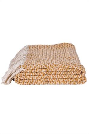 "Kentia κουβέρτα υπέρδιπλη με κρόσσια ""Adeline 28"" 220 x 240 cm"
