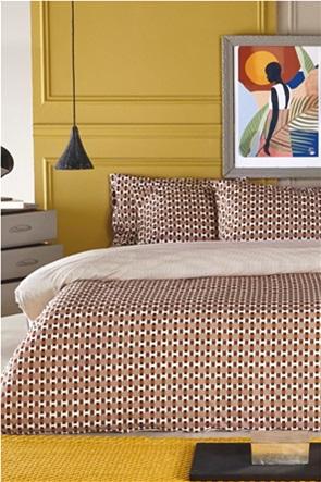 "Kentia σετ σεντόνια υπέρδιπλα με all-over geometrical print ""Ernesto 04"" (4 τεμάχια)"