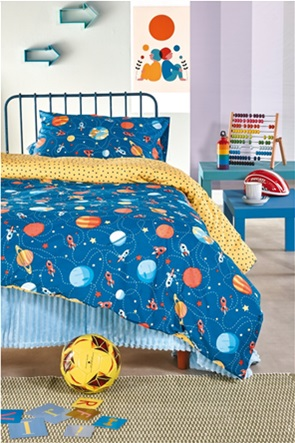 "Kentia σετ παιδικά σεντόνια μονά με print ""Mars""  (3 τεμάχια)"