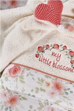 "Kentia σετ πετσέτες μπάνιου με floral τελείωμα ""Poppy"" (2 τεμάχια)"