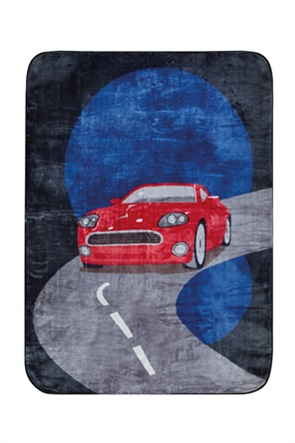 "Kentia παιδική κουβέρτα μονή με all-over print ""Street"" 160 x 220 cm"