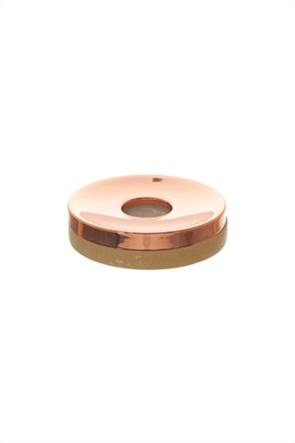 Coincasa θήκη σαπουνιού με μάρμαρο και ροζ χρυσό 11 cm