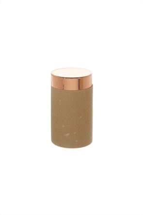 Coincasa μαρμάρινο δοχείο αποθήκευσης με καπάκι από ροζ χρυσό 13 cm