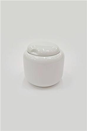 Coincasa βάζο για ζάχαρη από πορσελάνη με καπάκι 7 cm
