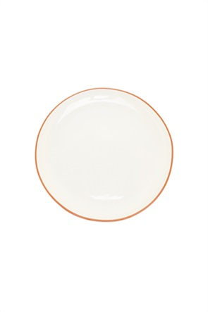 Coincasa κεραμικό πιάτο σερβιρίσματος με κόκκινη λεπτομέρεια 32 cm
