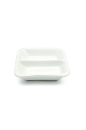 """Maxwell & Williams διπλό τετράγωνο πιατάκι για σως """"White Basics"""" 8 cm"""