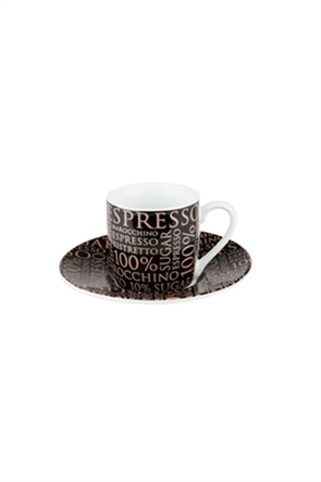 "Könitz φλιτζάνι με πιατάκι ""Espresso 100% Coffee"""