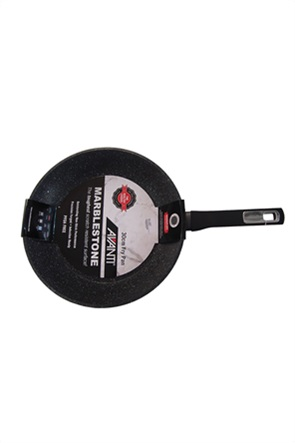 "Cook-Shop τηγάνι αντικολλητικό μαύρο ""Marblestone""  30 cm"