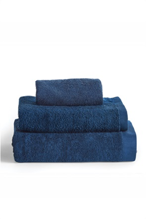 "Kentia πετσέτα προσώπου μονόχρωμη ""Brand Navy"" 50 x 100 cm"