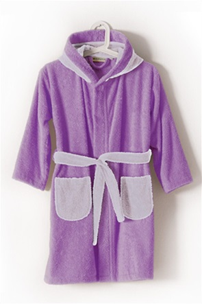 "Kentia παιδικό μπουρνούζι με τσέπες και κουκούλα ""Cool 3542"" (Νο 12)"