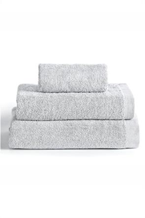 """Kentia πετσέτα χεριών μονόχρωμη """"Brand Silver"""" 40 x 60 cm"""