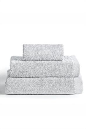 """Kentia πετσέτα προσώπου μονόχρωμη """"Brand Silver"""" 50 x 100 cm"""