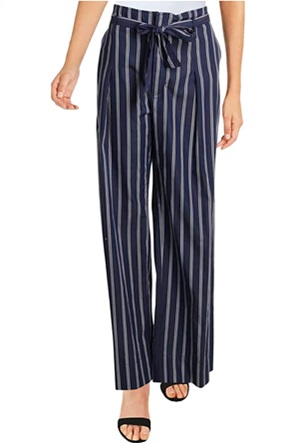 Lauren Ralph Lauren γυναικεία ριγέ παντελόνα με υφασμάτινο ζωνάκι