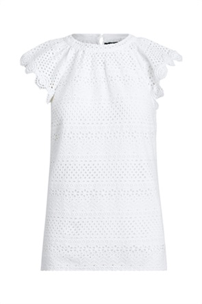 Lauren Ralph Lauren γυναικεία μπλούζα με δαντέλα κιπούρ