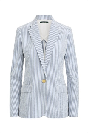 "Lauren Ralph Lauren γυναικείο ριγέ σακάκι με flap τσέπες ""Seersucker"""