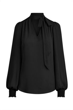"""Lauren Ralph Lauren γυναικεία μπλούζα που δένει στο λαιμό """"Georgette Tie-Neck"""""""