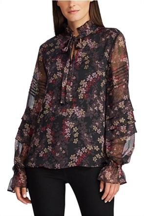 Lauren Ralph Lauren γυναικεία μπλούζα floral με διαφάνεια στα μανίκια
