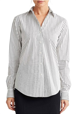Lauren Ralph Lauren γυναικείο ριγέ πουκάμισο με κεντημένο logo