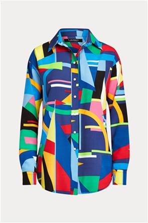 Lauren Ralph Lauren γυναικείo πουκάμισο με γεωμετρικό print