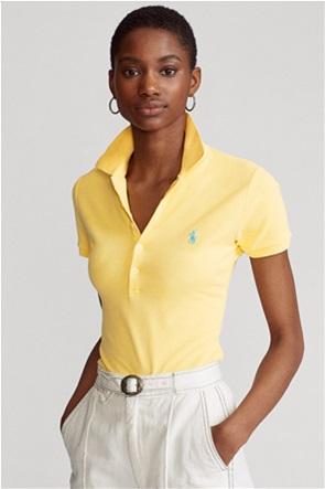 "Polo Ralph Lauren γυναικεία πόλο μπλούζα με κεντημένο logo ""Slim Fit"""