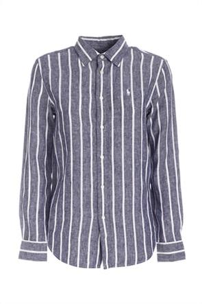 Polo Ralph Lauren γυναικείο πουκάμισο λινό με ριγέ σχέδιο ''Relaxed Fit''
