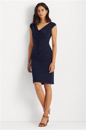 Lauren Ralph Lauren γυναικείo φόρεμα μονόχρωμο με σούρα