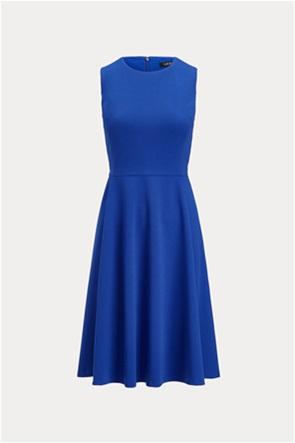 """Lauren Ralph Lauren γυναικείο φόρεμα αμάνικο μονόχρωμο """"Crepe Fit-and-Flare"""""""