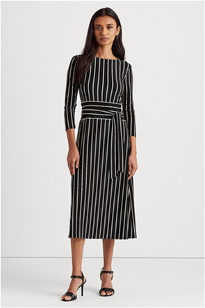 Lauren Ralph Lauren γυναικείο midi φόρεμα με ριγέ σχέδιο