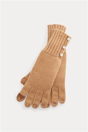 "Lauren Ralph Lauren γυναικεία γάντια με μεταλλικά κουμπιά ""Button-Trim Tech"""