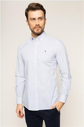 Trussardi ανδρικό πουκάμισο με μικροσχέδιο print