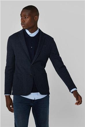 Trussardi ανδρικό σακάκι με καρό σχέδιο και απλικέ τσέπες