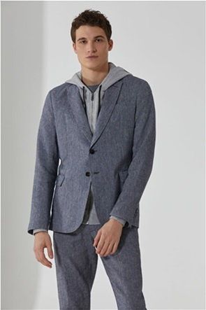 Trussardi Jeans ανδρικό casual σακάκι δίκουμπο με τσέπες