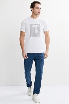 Trussardi Jeans ανδρικό παντελόνι πεντάτσεπο straight fit
