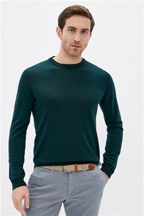 Trussardi ανδρική μάλλινη μπλούζα με στρογγυλή λαιμόκοψη