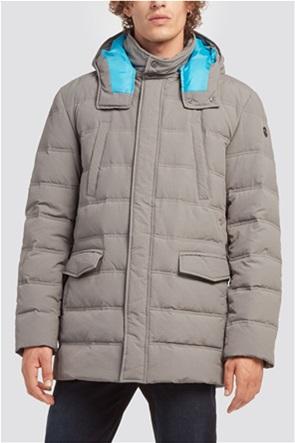 Trussardi ανδρικό oversized μπουφάν με κουκούλα
